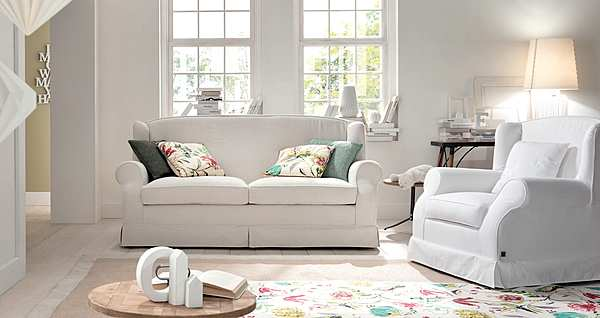 Couch TRECI SALOTTI Schiuma White & Soft