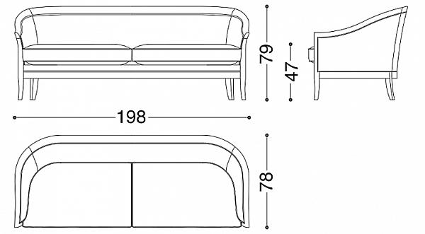 Sofa ANGELO CAPPELLINI 117 / BD2