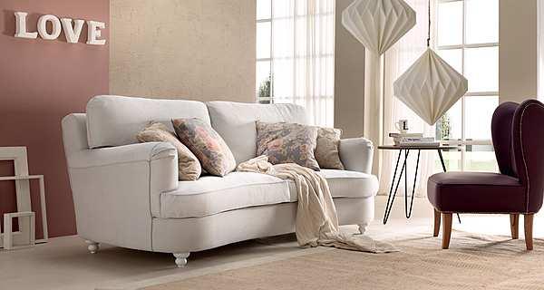 Couch TRECI SALOTTI Porcellana White & Soft