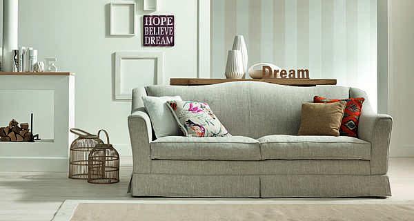 Couch TRECI SALOTTI Maltese White & Soft