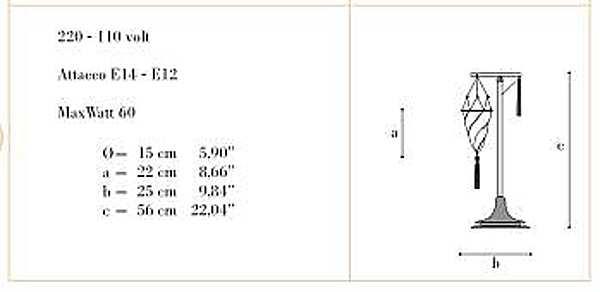 Schreibtischlampe ARCHEO VENICE DESIGN 403-00
