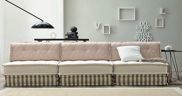 Couch TRECI SALOTTI PURE White & Soft