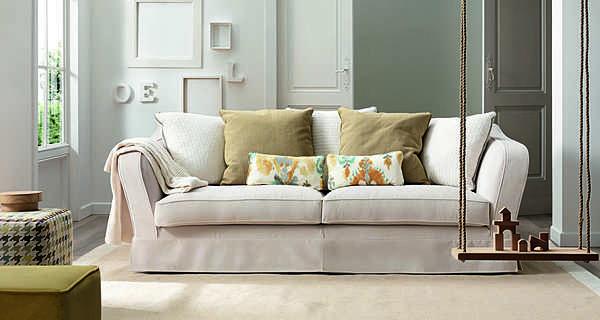 Couch TRECI SALOTTI BOLLA White & Soft