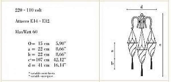 Wandleuchten ARCHEO VENICE DESIGN 402-03
