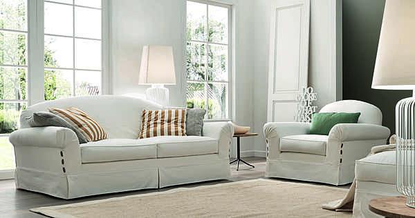 Couch TRECI SALOTTI Snow White & Soft