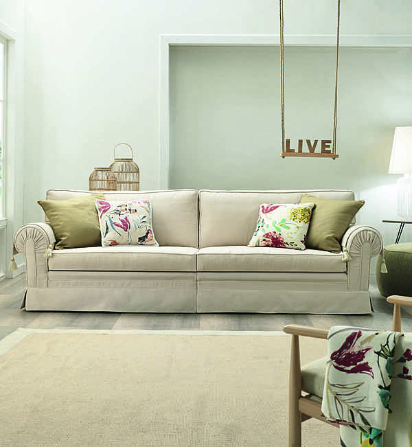 Couch TRECI SALOTTI Zucchero White & Soft