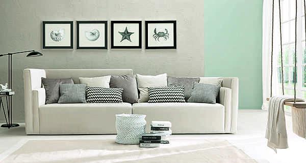 Couch TRECI SALOTTI Ghiaccio White & Soft