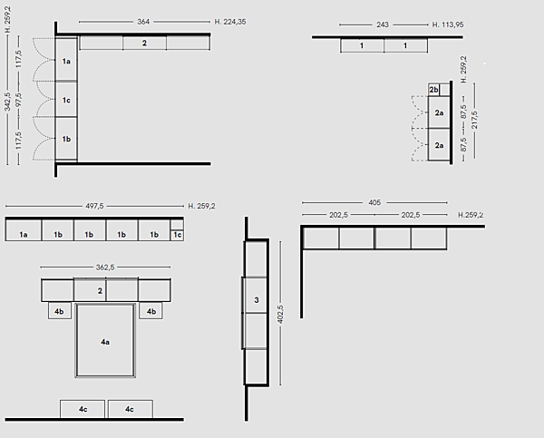 Zusammensetzung Komposition Progetto B. 2