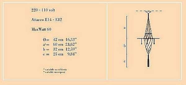 Kronleuchter ARCHEO VENICE DESIGN 101-DB