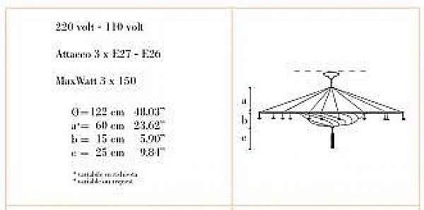 Kronleuchter ARCHEO VENICE DESIGN 311-00