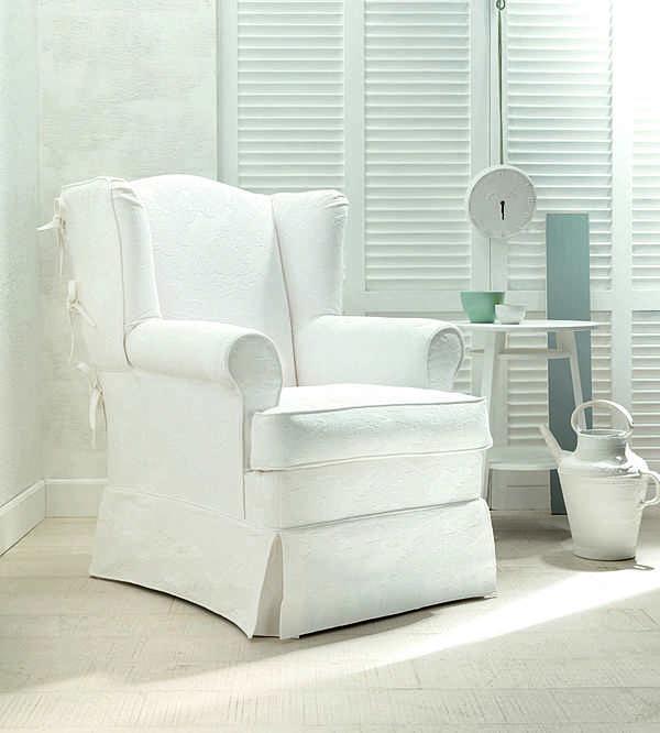 Sessel TRECI SALOTTI HAPPY White & Soft