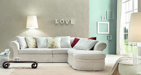 Couch TRECI SALOTTI RISO White & Soft