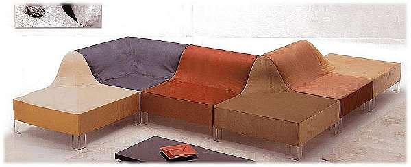 Couch GIOVANNETTI Dune - 1 Color arancia