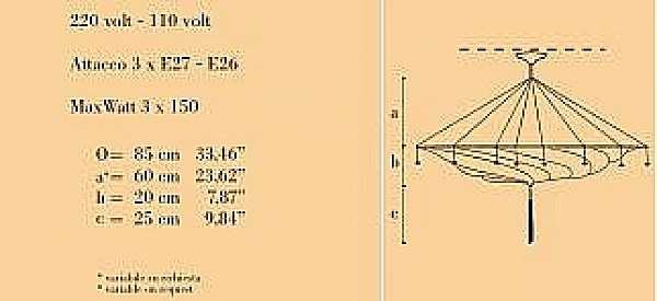 Kronleuchter ARCHEO VENICE DESIGN 303-00