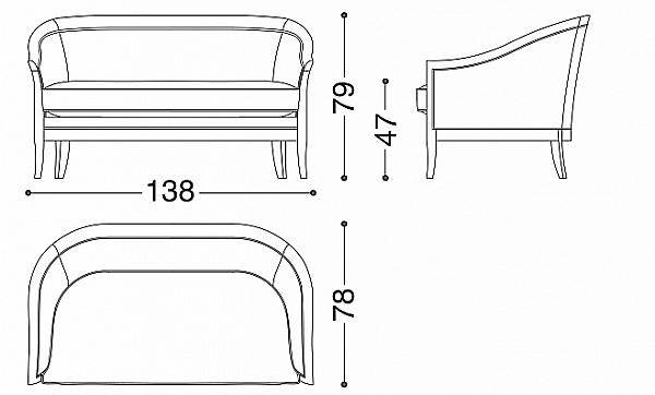 Sofa ANGELO CAPPELLINI 117 / BD3