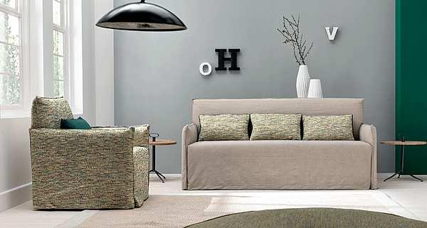 Couch TRECI SALOTTI Pop Corn White & Soft