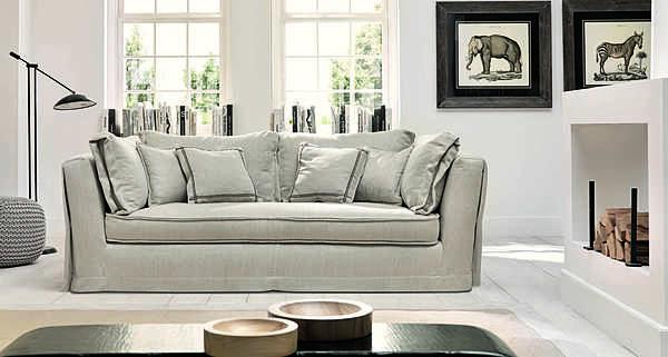 Couch TRECI SALOTTI Alabastro White & Soft