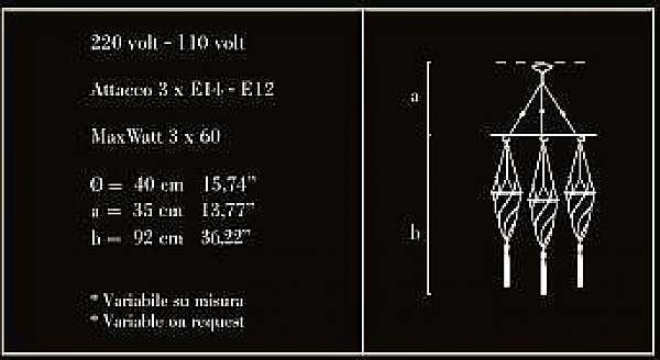 Kronleuchter ARCHEO VENICE Design 401D3