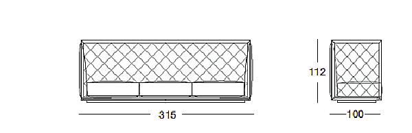 Sofa LONGHI (F. LLI LONGHI) W 555