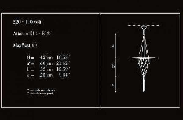Kronleuchter ARCHEO VENICE DESIGN 105-DB